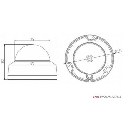 IP видеокамера Hikvision DS-2CD2110F-IS (2.8мм)