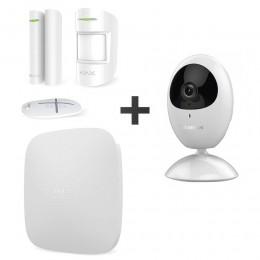 Комплект сигнализации Ajax StarterKit белый + IP-видеокамера Hikvision DS-2CV2U21FD-IW (2.8 мм)