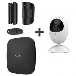 Комплект сигнализации Ajax StarterKit черный + IP-видеокамера Hikvision DS-2CV2U21FD-IW (2.8 мм)