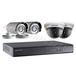 Комплект видеонаблюдения Hikvision DS-J142I 2in+2out